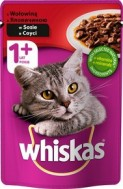 WHISKAS ADULT WOŁ.100G.SASZ./24
