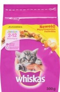 WHISKAS SUCHY JUN.KUR. 300G/14
